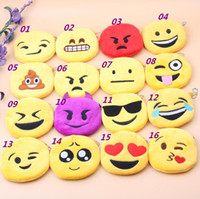 Wholesale 2016 New Hot QQ expression Coin Purses cute emoji coin bag plush pendant High quality
