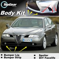 Wholesale For Alfa Romeo AR Bumper Lip Lips Skirt Deflector Spoiler For Car Tuning The Stig Recommend Body Kit Strip