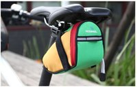 bicycle saddle fitting - 2016 New Arrival Roswheel Outdoor Cycling Mountain Bike Bicycle Saddle Bag Back Seat Tail Pouch Package Black Green Blue Red Free DHL