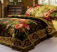 antique floral bedding - 2016 Direct Selling Promotion Full for Queen Bed Cover Antique Retro Luxury Oil Painting Print Piece Bedspreads And Duvet Cover Sets