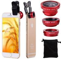 microscope for eye - Fisheye microscope in universal fish eye lens set selfie lens telescope for huawei xiaomi samsung iphone ipad lg mix color