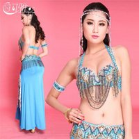 arabic belly dance - New Arrival Arabic Beaded Oriental Dance Dress Set Sexy Egypt Skirt Belly Dance Costume for Women Stage Wear Top Quality