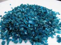 apatite rough - 100g Natural Dark blue apatite Stones Reiki Rough Mineral Specimen
