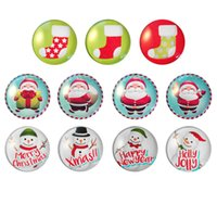 Wholesale 2016 Christmas series of refrigerator mm Christmas pattern fashion crystal glass refrigerator Christmas cartoon fridge magnet