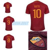 Wholesale Discount Cheap DZEKO Rome Soccer Jersey Shirts tops Thai Quality Customized DE ROSSI Football Jerseys mens szczesny Soccer WEAR