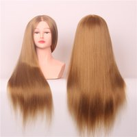 Wholesale 22inch High Tempearture Synthetic Fiber yaki Hair The Test Make Up Head Cosmetology Mannequin Free Stands