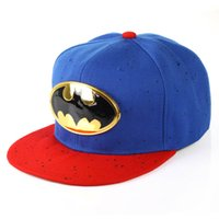 batman labels - 2016 New Men Batman Metal Label Flat Brim Baseball Caps Adjustable Women Spring Autumn Cotton Baseball Hats