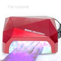 Wholesale 2016 W UV Lamp LED Ultraviolet Lamp UV Nail Dryer Nail Lamp Diamond Shaped CCFL Curing for UV Gel Nails Polish Nail Art Tools