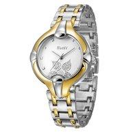 Compra Los mejores relojes de moda de calidad-El reloj de lujo de las mujeres de la hoja de BELBI mira la manera Wrtistwatch del cuarzo El mejor regalo de calidad superior para la venta caliente de señora