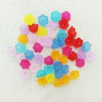 Wholesale 100pcs flower beads caps end tassel cap cord ends earrings finding necklace making frosted spacer Connector clasp top jewelry