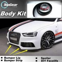 audi spoilers - Bumper Lips For Audi A4 S4 RS4 Front Skirt Deflector Spoiler For Car Tuning The Stig Recommend Body Kit Strip