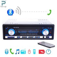 Wholesale car dvd V Car Stereo FM Radio MP3 Audio Player Support Bluetooth Phone with USB SD MMC Port Car Electronics Subwoofer In Dash DIN