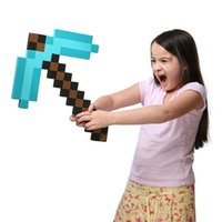 axe weapon - EMS to UK Foam Diamond Blue Gold Grey Sword Pickaxe pick axe Weapons Mosaic EVA Toys For Kids Christmas Gift