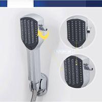 Wholesale Bath Multifunctional handheld brush shower nozzle comb function shower head rubbing back Sprayer shower nozzle Size g Color White