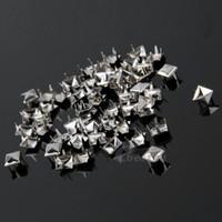 achat en gros de pic rivets argent-1000x Punk Argent Bricolage Pyramide Studs Rivets Spots Spikes pour Sac Vêtements Cuir