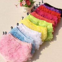 Wholesale Lovely Baby Ruffles Chiffon Bloomer Infant Toddler Cotton Skirt Shorts Kids Layers Skirt Diaper Cover Underwear PP Short free ship