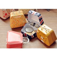 best alps - 2016 Best price High quality Creative handbag bag iron Mini Storage small tin coin box candy box