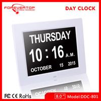 Wholesale NEW LED Clock Display Jumbo Large Digital Wall Alarm Countdown World Clock Blue LED Blue Clocks Timer