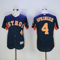baseball store houston - 2016 Flexbase Mens George Springer Houston Astros Baseball Jerseys Orange Gray Navy Blue Cheap Outlets Store