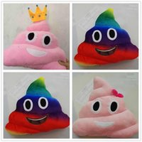 Wholesale 3 designs New emoji plush toys Pillow Cushion cartoon inches Poop Stuffed Animals Pillows dolls Children s gift D802