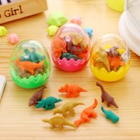 Wholesale Creative Kawaii Cute D Dinosaur Egg Shaped Mini Pencil Eraser Stationery School Rubbers Office Supplies Student Rewarding