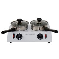 Wholesale 110V220V W double chocolate melting pot chocolate melter in stock