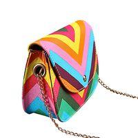best cell deals - Best Deal New PC Fashion Casual Women Girl Messenger Bags Shoulder Bag Chain Rainbow Stripes Crossbody Bag