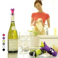 Wholesale High Quality Creative Wine Stopper Eco friendly Silicone Wine Pourer Wine Bottle Stopper Plug kitchen supplies