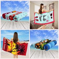 bamboo bath mat - Printing Beach Towel Cartoon Animal Microfiber Swimsuit Cover Up Bath Towel Yoga Mat designs cm LJJO410