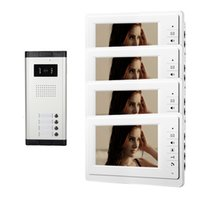 apartment intercom system - Xinsilu Apartment Unit Intercom Entry System Wired Video Door Phone Audio Visual inch White Monitor V70F C