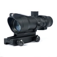 Wholesale Tactical ACOG Style x32 Optic Red Dot Sight Scope With QD Mount For Hunting RifleScope r006