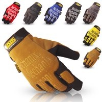 Wholesale MECHANIX WEAR Word Windproof Winter Gloves Hiking Military Tactical Warm Ski Snowboard Motorcycle Cycling Long Full Finger Glove