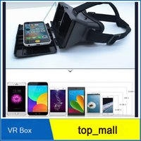 Wholesale Google D Glasses Movies Games VR Box Head mounted Virtual Reality VR Resin Lens For ISO for Samsung S7 DHL free ship