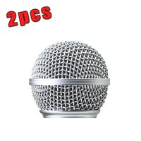Wired ball microphone - Free New Replacement Ball Head Mesh Microphone Grille for SM SM58S SM58LC BETA58 BETA58A
