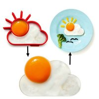 Wholesale hot sale Breakfast Creative Silicone Cute Sun Cloud Egg Mold Fried Egg Mold Pancake Mold Kids Diy cooking tools cm