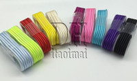 Wholesale 1 M Metal Fabric Nylon Braided Cable Woven Metal Head Micro USB For Galaxy S4 Note Huawei Lenovo HTC Blackberry