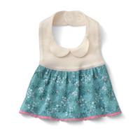 bib apron patterns - 1 pc new pattern Baby girl pure cotton Bib Apron baby Snap Adjustable Saliva towel Eating pocket Fancy apron cTRK0108
