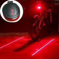 Wholesale LED Laser flash mode Cycling Safety Bicycle Rear Lamp waterproof Bike bicicleta Laser Tail Light Warning Lamp Flashing