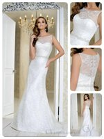 benjamin roberts wedding dresses - Sleeveless Boat Neckline Lace Appliques Hand Beaded Lace Custom Made CM19 Benjamin Roberts Bridal Dresses Wedding Gowns