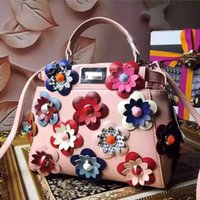 absolute fashion - Pink Handmade flowers leather handbags fashion bags high quality metal accessories absolute luxury is the woman s favorite