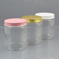 Wholesale 50pc g Plastic Cosmetic Jar Clear Serum Bottle Gold White Pink Aluminum Cap Cream Container Factory