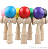 Wholesale Kid Kendama Ball Japanese Casual Traditional Jling Game Wood Hand eye Balance Skill Educational Toys Plain Colors