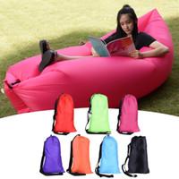 Wholesale Hot Camping Sofa Fast Inflatable Portable Sofa Hiking Bed Banana Sleep Bag Beach Outdoor Laying Air Beds Chairs