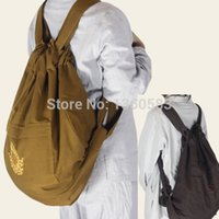 Wholesale high quality embroidery shaolin monk Buddhist bags Zen masters Buddhism chan backpack meditation Lay Buddha Lohan canvas unisex