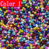 Wholesale Wholesales Czech Slass Seed Beads Mixed Color DIY Material mm About G