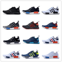 best discount shoes - 2016 Best Quality NMD Runner Primeknit Discount Sales White Red Blue NMD Runner Sports Shoes Men Woman NMD Running Boost with Box Free Ship