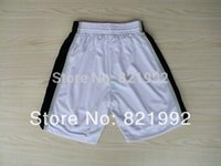Wholesale Top Quality San Antonio Men s Basketball Highest Grade Mesh shorts White Black Accept Mixed Order