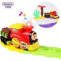 Wholesale Berns large rail car small train boy electric rail car set of children s toy toy