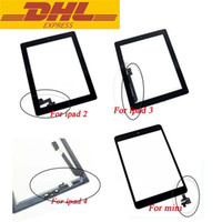 Wholesale For iPad Air mini Touch Screen Glass Digitizer Assembly Screen Replacement AAA Quality Outer Glass Lens Panel