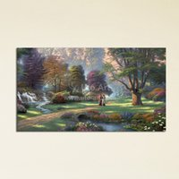 abstract art image - Classical Thomas Kinkade Painting Picture Print on Canvas Home Decoration Piece Art Panel HD Digital Image Printed for Home Wall